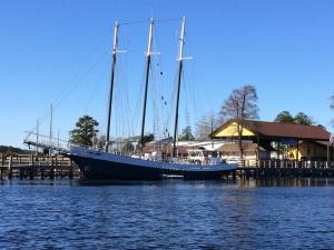a pretty incredible three-masted sail boat